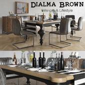 Dialma Brown Dining set
