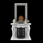 Fireplace in the style of Louis XV