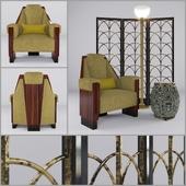 Art Deco Angular Chair