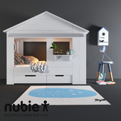 Cabin Bed House in White Pine