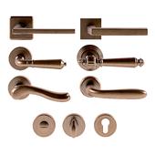 Set of door handles