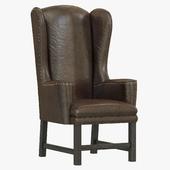 Restoration Hardware Belfort Wingback Leather Armchair