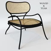 Lehnstuhl Low armchair - / Wood & teak - Wiener GTV Design