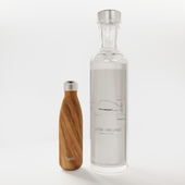 Bottle set vodka