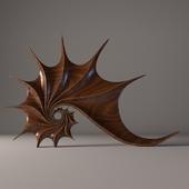 """Wooden sculpture """"Shell"""""""