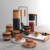Black&Wood kitchen set