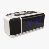 Acctim Excelsior Blue LED Mains Electric Bold Bedside Alarm Clock
