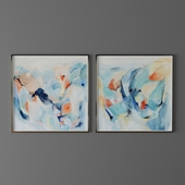 Set of abstract paintings 1