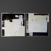 Set of contemporary art 11
