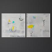 Set of contemporary art 12