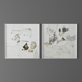 Set of abstract paintings 3