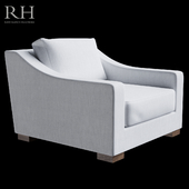 RH MODENA SLOPE ARM FABRIC CHAIR