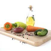 Kitchen decore set (vegetables)