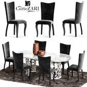 Corte Zari EVA Chair and FLORA Table