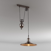 Suspension lamp with counterweight Pub