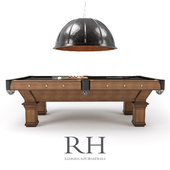 RH / BRUNSWICK VINTAGE 1906 BILLIARDS TABLE