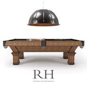 RH/ BRUNSWICK VINTAGE 1906 BILLIARDS TABLE