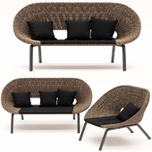Sofa and armchair from the collection of Loa, Blooma