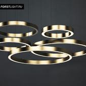 Pendant lamp Forstlight Brass Ring