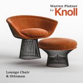 Warren Platner Lounge Chair & Ottoman  for Knoll