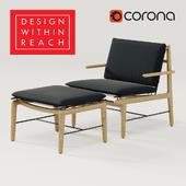 DWR Finn lounge chair + ottoman  / Кресло + тахта