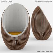 Motley Tall Baton Chair by Samuel Chan