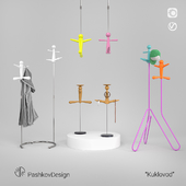 """Clothes hanger; organizer for jewelry """"Puppeteer"""""""