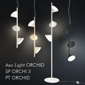 Suspended fixtures Axo Light ORCHID SP ORCHI 3 and floor lamp Axo Light ORCHID PT ORCHID