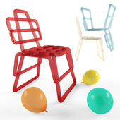 Inflated chair in 6 colours + baloons