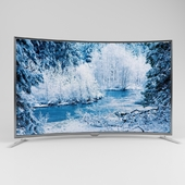 A huge TV with a curved screen 2500x1500