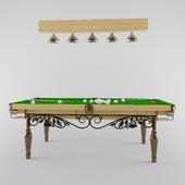 Wrought iron billiard