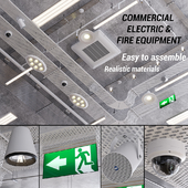 Commercial electric and fire fighting (vray GGX, corona PBR)