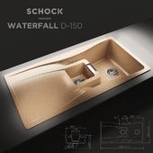 Kitchen sink schock Waterfall D-150