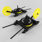 "Training sledge H-shaped (set ""Wheelbarrow"")"