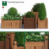 Timber wood planter
