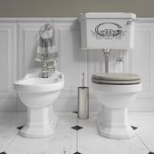Set of bathroom furniture Gaia # 2: bidet and toilet bowl