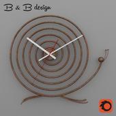 Wall clock metal BsB Snail