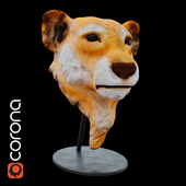 statuette lion