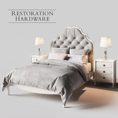 Restoration Hardware Paulette Tufted bed