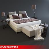 Flexform Long Island Bed Set