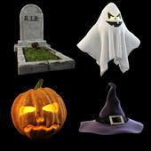 Хеллоуин набор (4 предмета) на конкурс
