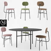 Afteroom Plus Chair + Snaregade Tables By MENU