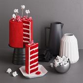 Cake Red Velvet with Marshmallows