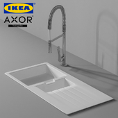 Hansgrohe Axor Citterio Faucet and Ikea Hallviken