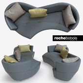 Digital Large Round 3-Seat Sofa by Roche Bobois