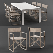 Talenti Chic Director Chair & Table