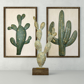 Metal Cactus Sculptures