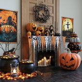 Halloween decor set