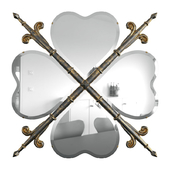 Mirror Heraldic Heart