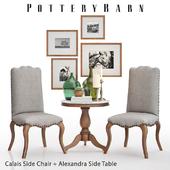 Pottery Barn Calais Side Chair + Alexandra Side Table
